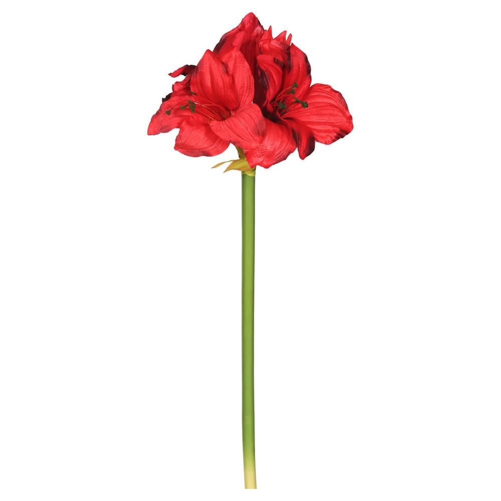 Artificial Single Amaryllis (3/Bag) (28) Red - Vickerman