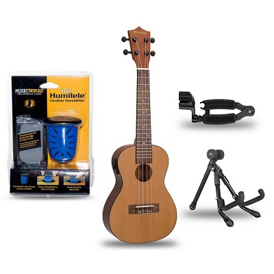 Mitchell MU50SE Acoustic-Electric Concert Ukulele Deluxe Package