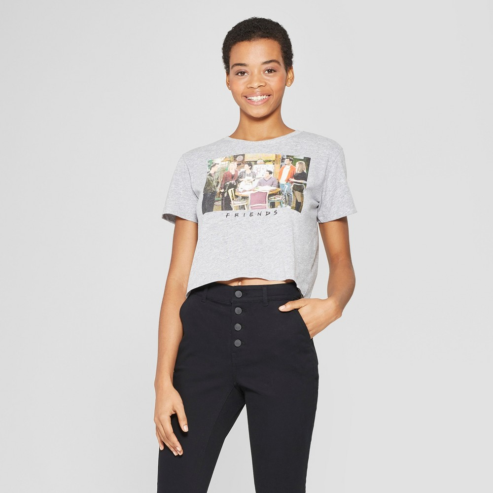 Women's Friends Short Sleeve Boyfriend Crop Cropped T-Shirt - (Juniors') Gray Xxl
