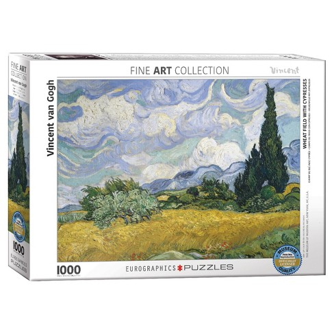 Wheat Field with Cypresses by Vincent van Gogh 1000pc Puzzle - image 1 of 1