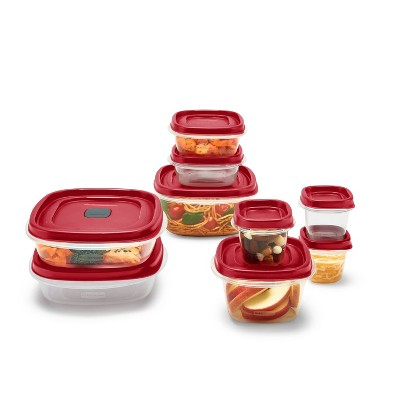 Rubbermaid 18pc Plastic Food Storage Container Set Red