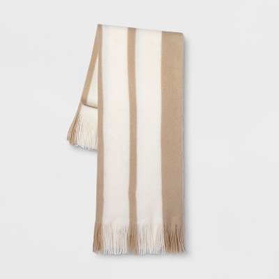 Stripe Throw Blanket Neutral - Threshold™