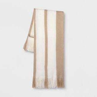 Stripe Throw Blanket Neutral - Threshold™