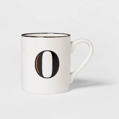 16oz Stoneware Monogram Mug O White - Threshold™