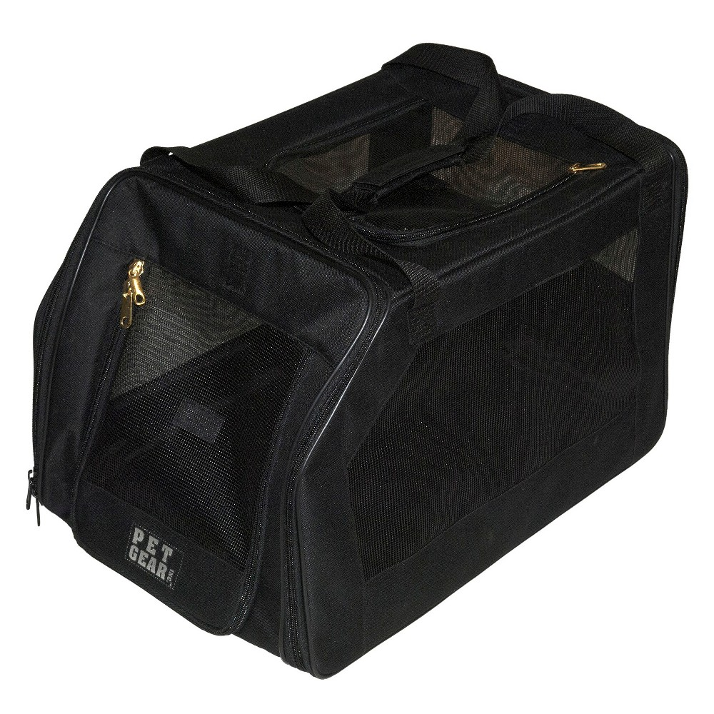 Pet Gear Car Seat Cat and Dog Carrier - Up to 20lb - Black
