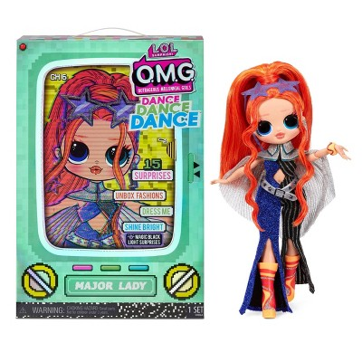 L.O.L. Surprise! OMG Dance Dance Dance Major Lady Fashion Doll with 15 Surprises Including Magic Blacklight Shoes