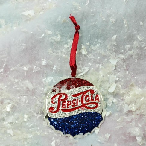 "Northlight 3"" Classic Pepsi-Cola Bottle Cap Logo With European Crystals Christmas Ornament : Target"