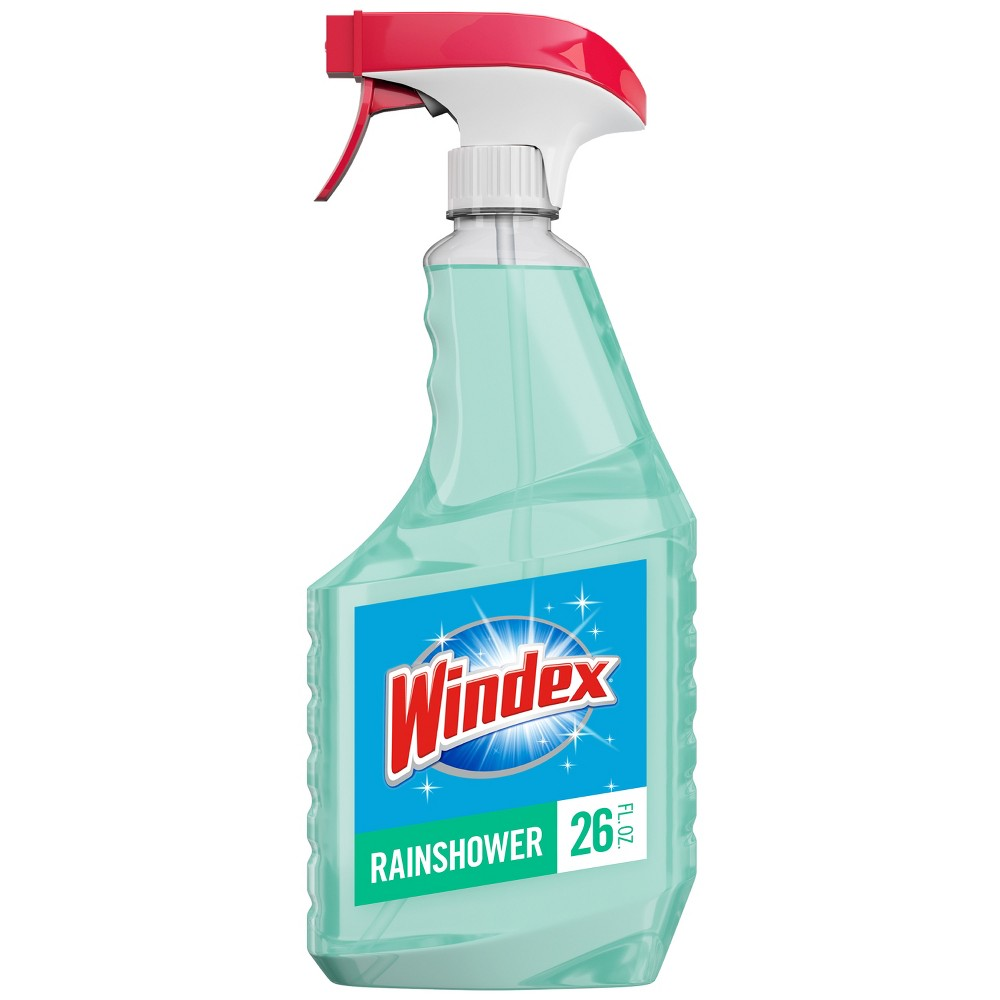 Windex Multi-Surface Disinfectant Cleaner Trigger Bottle, Rainshower - 26 fl oz, Green Don't leave the streak-free shine behind when you reach for a disinfecting multi-surface cleaner. Windex Disinfectant Cleaner Multi-Surface leaves behind a fresh citrus scent that kills 99.9 percent of germs‡. Use to clean: bathroom surfaces, countertops, kitchen tables and more. When used as directed, kills: ‡Staphylococcus aureus, Salmonella enterica, Pseudomonas aeruginosa , Streptococcus pyogenes , Rhinovirus Type 37 (common cold), Influenza A2/Hong Kong (Influenza)(H1N1) (flu) (virus), Influenza B †Staphylococcus aureus, Enterobacter aerogenes, Escherichia coli, Salmonella enterica, Listeria monocytogenes, and Streptococcus pyogenes. Directions FOR Use: It is a violation of Federal Law to use this product in a manner inconsistent with its labeling. TO Clean: Spray surface and wipe with a dry paper towel or lint-free cloth. Note: Do not use on glasses, utensils or dishes. All food contact surface such as appliances and kitchen countertops must be rinsed with water. TO Sanitize Hard Non-Porous Surface: Pre-clean heavily soiled areas. Spray surface until thoroughly wet. Let stand for 10 seconds. Wipe. TO Disinfect ON Hard Non-Porous Surface: Pre-clean heavily soiled areas. Spray surface until thoroughly wet. Let stand for 10 minutes. Wipe. Uses: Cleans the following surfaces: Bathroom surfaces, Corian and Formica countertops*, sealed granite countertops, sealed marble countertops (real or synthetic), exterior surfaces of appliances like microwaves, stovetops, toasters, etc. Kitchen fixtures, stainless steel, glazed ceramic tile, glass, windows, plastic, vinyl and more. *Corian is a registered trademark of E. I. du Pont de Nemours and Company. Formica is a registered trademark of The Diller Corporation. Color: Green.