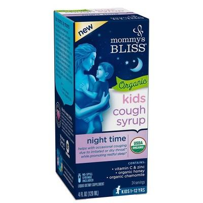 Mommy's Bliss Kids Organic Nighttime Cough & Mucus Relief Liquid - 4 fl oz