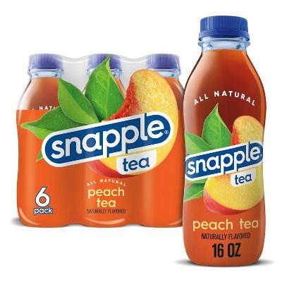 Snapple Peach Tea - 6pk/16 fl oz Bottles