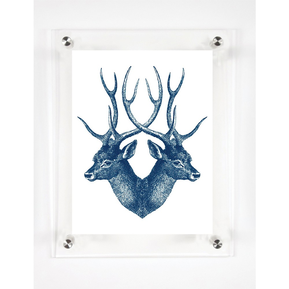 Mitchell Black Stag Decorative Framed Wall Canvas Midnight (12