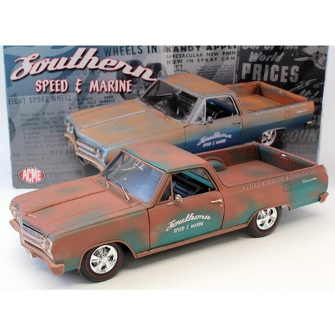 """1965 Chevrolet El Camino """"Southern Speed & Marine"""" Only 696 Produced 1/18 Diecast Model Car by Acme - image 1 of 2"""