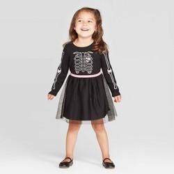 Toddler Girls' Halloween Skeleton Dress - Cat & Jack™ Black