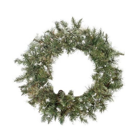 """Northlight 30"""" Unlit Snow Mountain Pine Artificial Christmas Wreath - image 1 of 1"""
