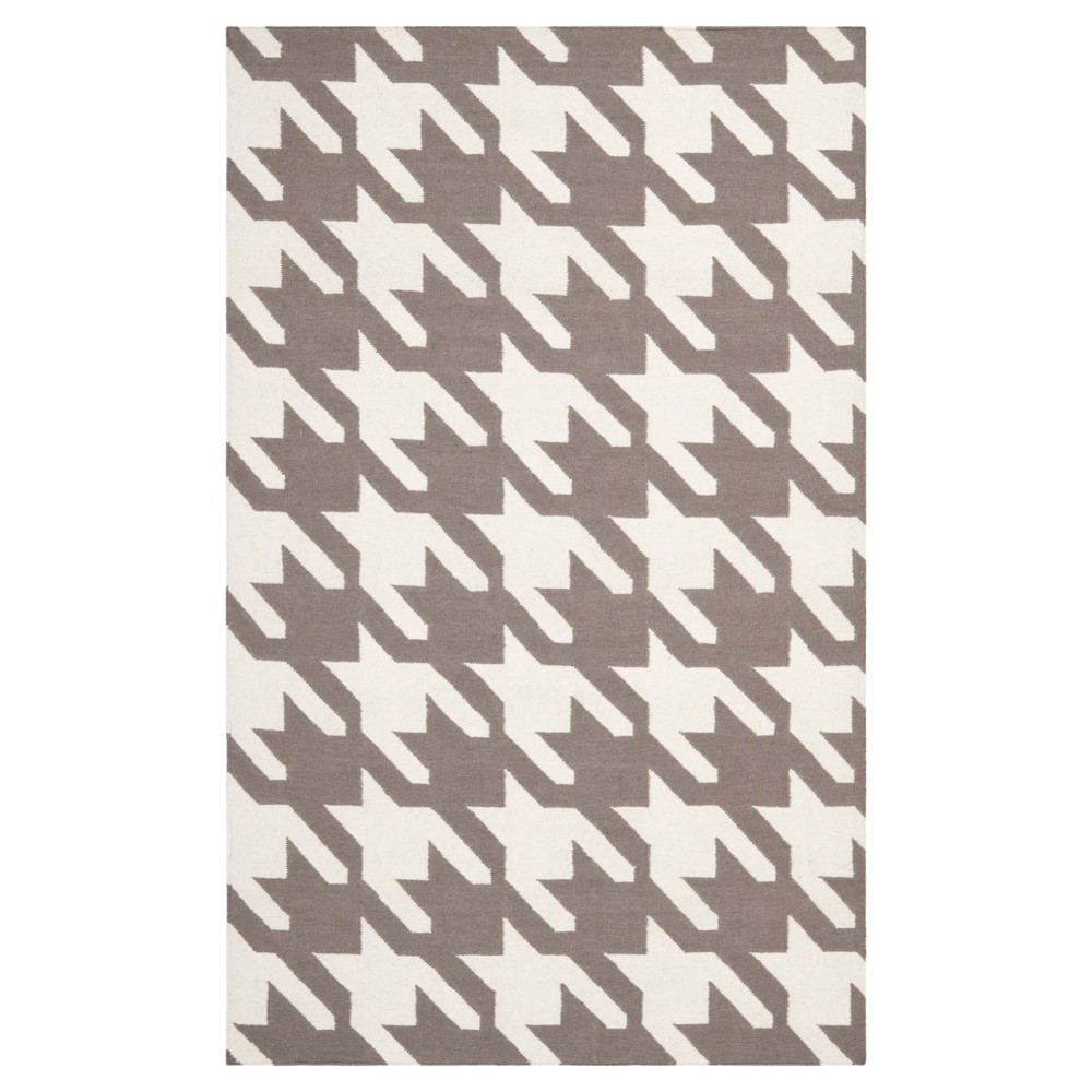 8'X10' Houndstooth Area Rug Gray/Ivory - Safavieh