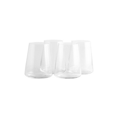 12.8oz 4pk Crystal Power Stemless White Wine Glasses - Stoelzle