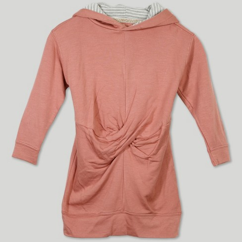 23741a8ff3c Afton Street Toddler Girls  Hooded Long Sleeve A Line Dress - Pink ...