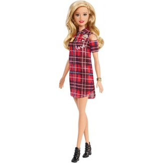Barbie Fashionistas Doll 113 - Blonde with Plaid Dress Shirt