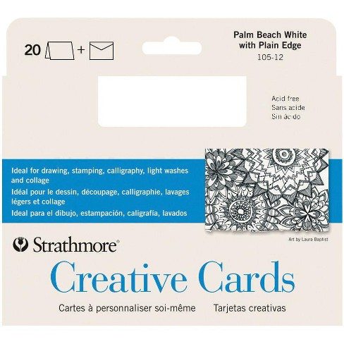 Strathmore Full Size Cards with Envelopes, 5 x 6-7/8 Inches, Palm Beach White, pk of 20 - image 1 of 1