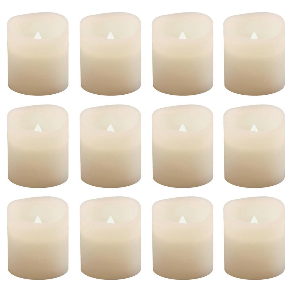Image of 12ct Battery Operated LED Votive Lights White