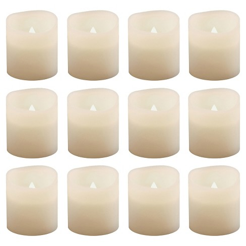 12ct Battery Operated LED Votive Lights White - image 1 of 4