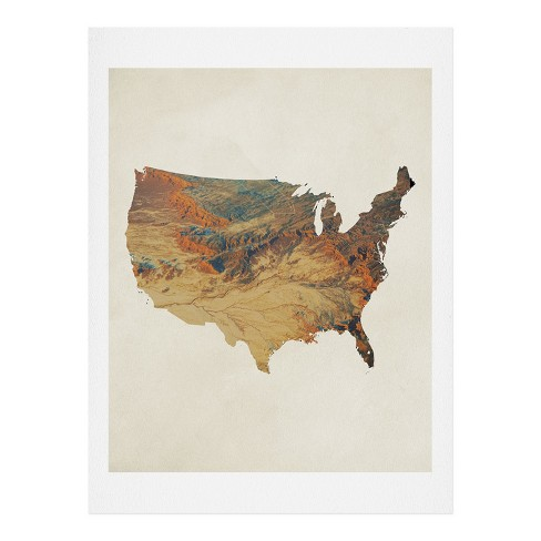 "Chelsea Victoria Wild Wild West States Art Print 16"" 20"" - Deny Designs - image 1 of 1"