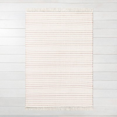 5' x 7' Stripe with Fringe Area Rug Rusty Red - Hearth & Hand™ with Magnolia