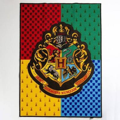 """Harry Potter 39""""x54"""" Hogwarts Crest Rug"""