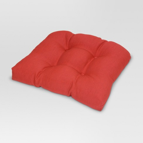 Tufted Seat Cushion Solid - Threshold™ - image 1 of 2