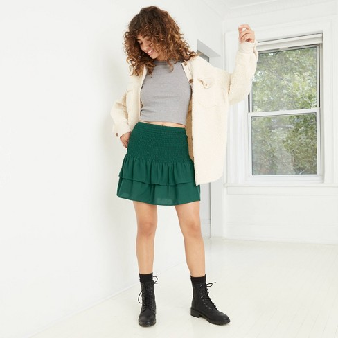 Women's Smocked Ruffle Mini Skirt - Wild Fable™ - image 1 of 3