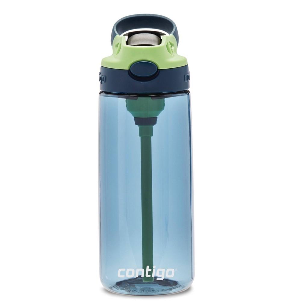 Best Contigo 20oz Plastic Kids Autospout Water Bottle Blue/Green