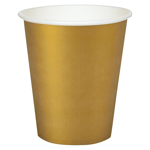 24ct 9 Oz. Cups - Gold - image 1 of 1