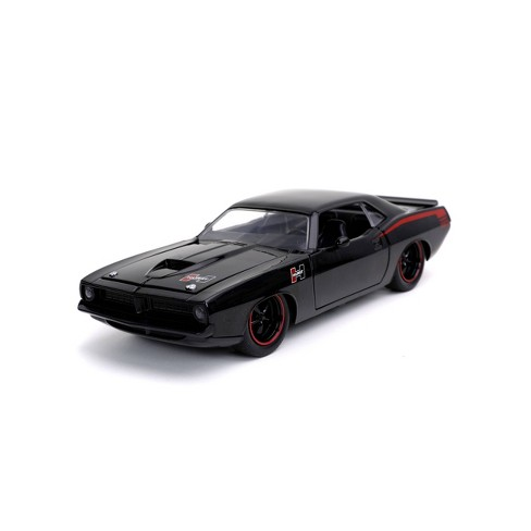 Jada Toys Big Time Muscle 1973 Plymouth Barracuda Die-Cast Vehicle 1:24 Scale - Black - image 1 of 4