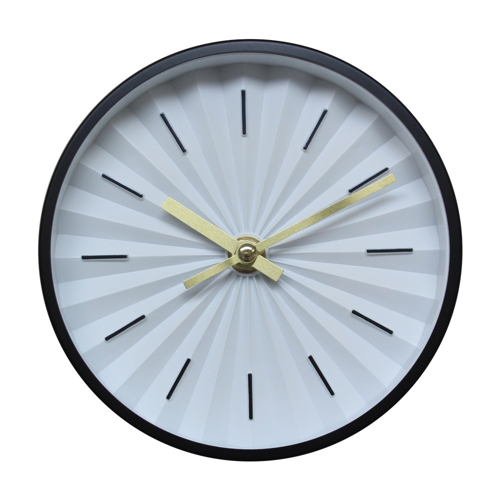 """Image of """"6"""""""" Raised Dial Desk/Wall Clock Black - Project 62"""""""