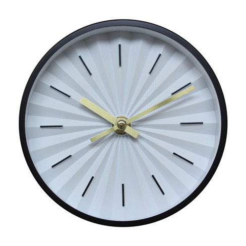 "6"" Raised Dial Desk/Wall Clock Black - Project 62™ - image 1 of 3"