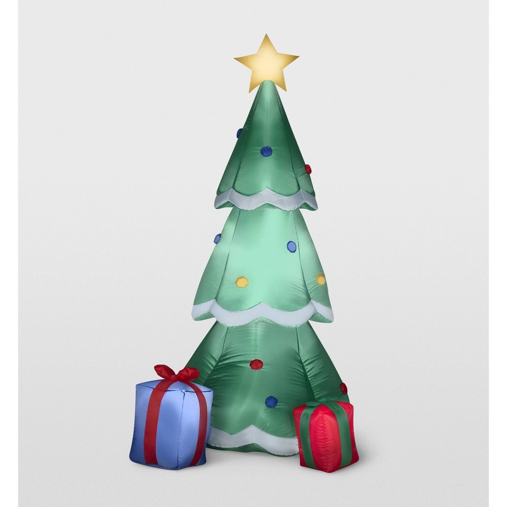 Image of Gemmy Christmas Tree with Presents Inflatable Holiday Decoration