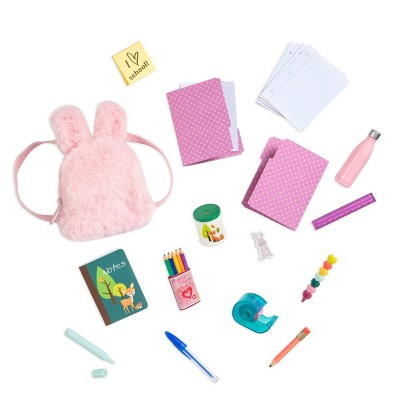 """Our Generation School Supplies Set & Backpack for 18"""" Dolls - Bright & Learning"""