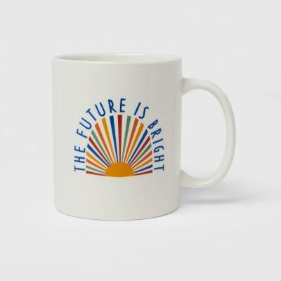 15oz Stoneware The Future is Bright Mug - Room Essentials™
