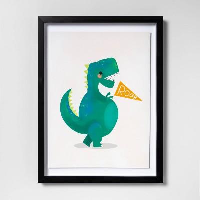 """12""""x16"""" Dinosaur Framed Wall Art - Pillowfort™"""