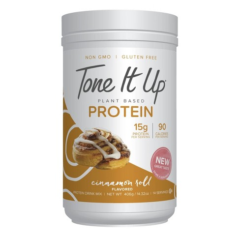 Tone It Up Plant Based Protein Powder - Cinnamon Roll - 14.32oz - image 1 of 1
