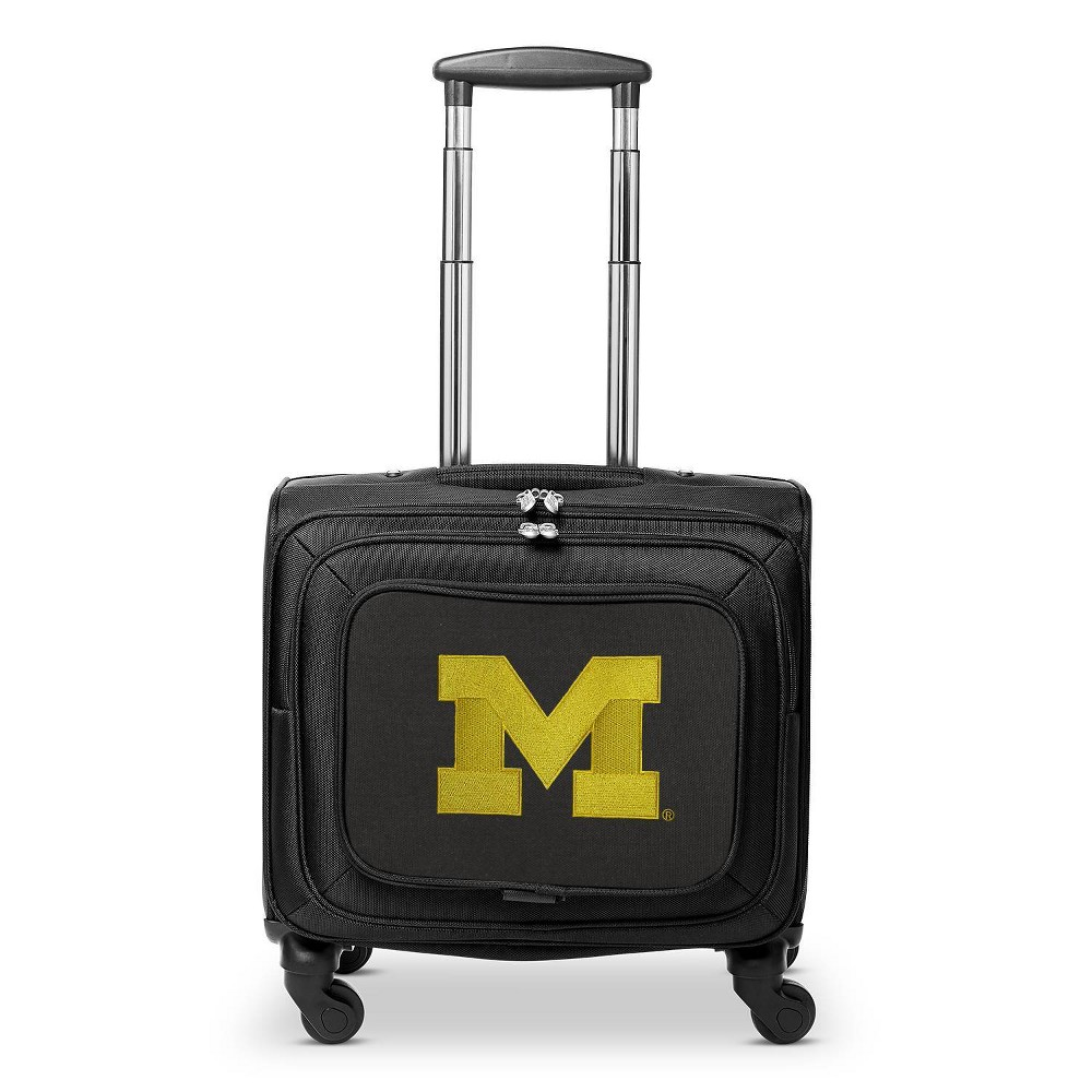 Ncaa Michigan Wolverines Mojo Carry On Laptop Spinner Wheels Suitcase