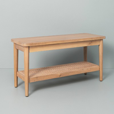 Wood & Cane Bench Natural - Hearth & Hand™ with Magnolia