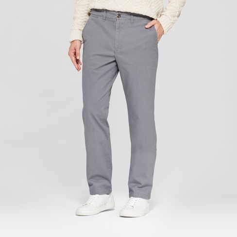 Men's Straight Fit Hennepin Chino Pants - Goodfellow & Co™ Dark Gray - image 1 of 3