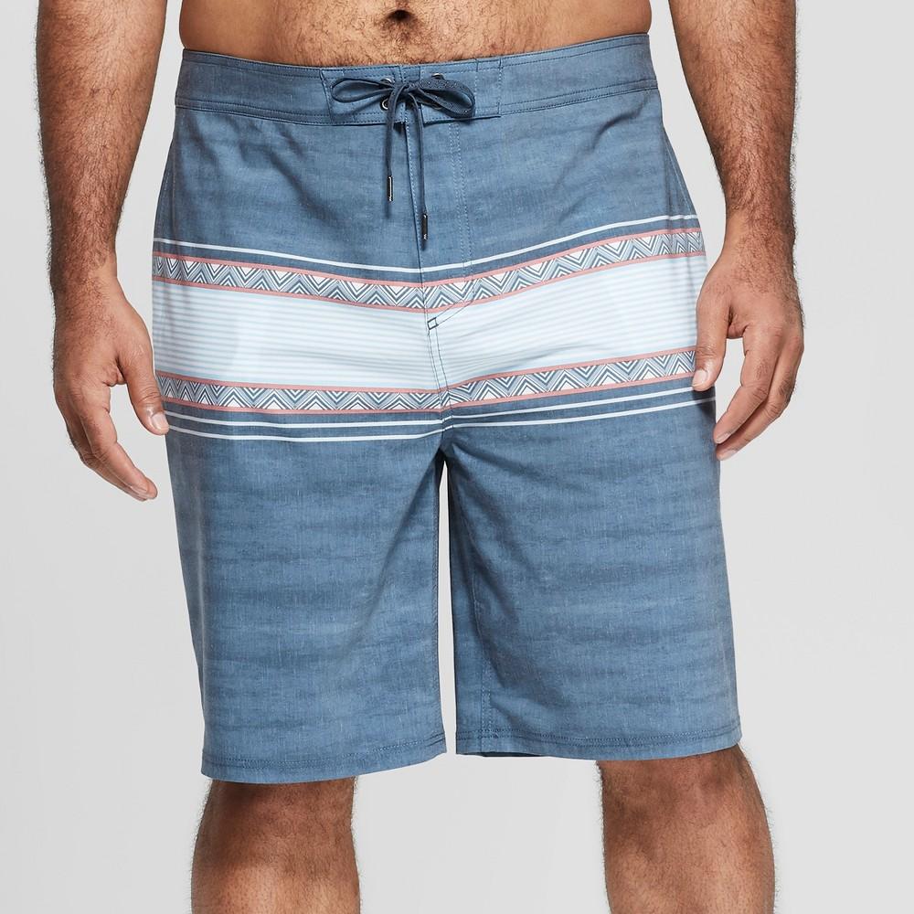 Men's Big & Tall 10 Geo Board Shorts - Goodfellow & Co Blue 60
