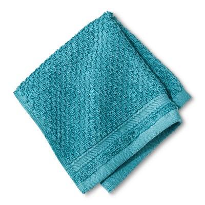 Performance Texture Washcloth Turquoise - Threshold™
