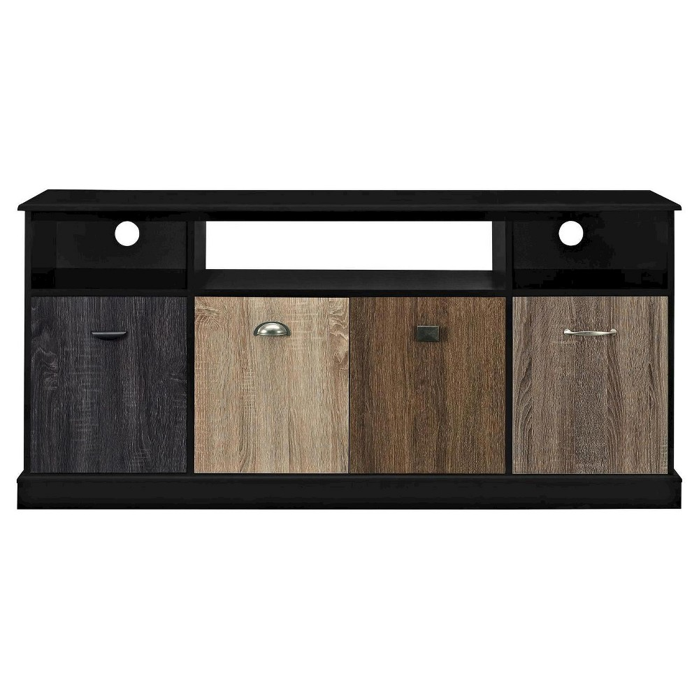 Montgomery TV Console with Multicolored Door Fronts for TVs up to 60 Wide - Black - Room & Joy