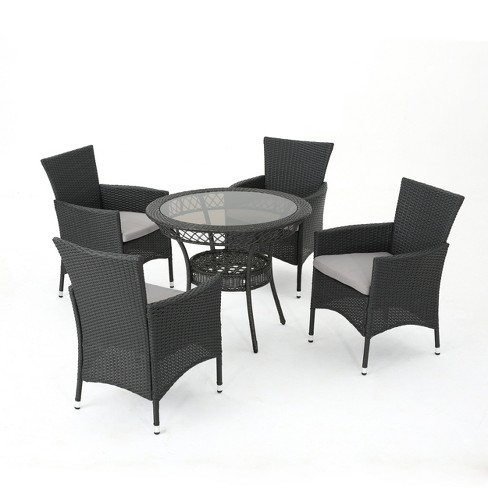 Kendricks 5pc Wicker Dining Set  - Gray - Christopher Knight Home - image 1 of 4