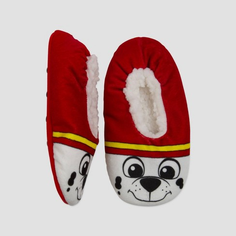Toddler Boys' PAW Patrol Fuzzy Babba Slippers - White - image 1 of 2