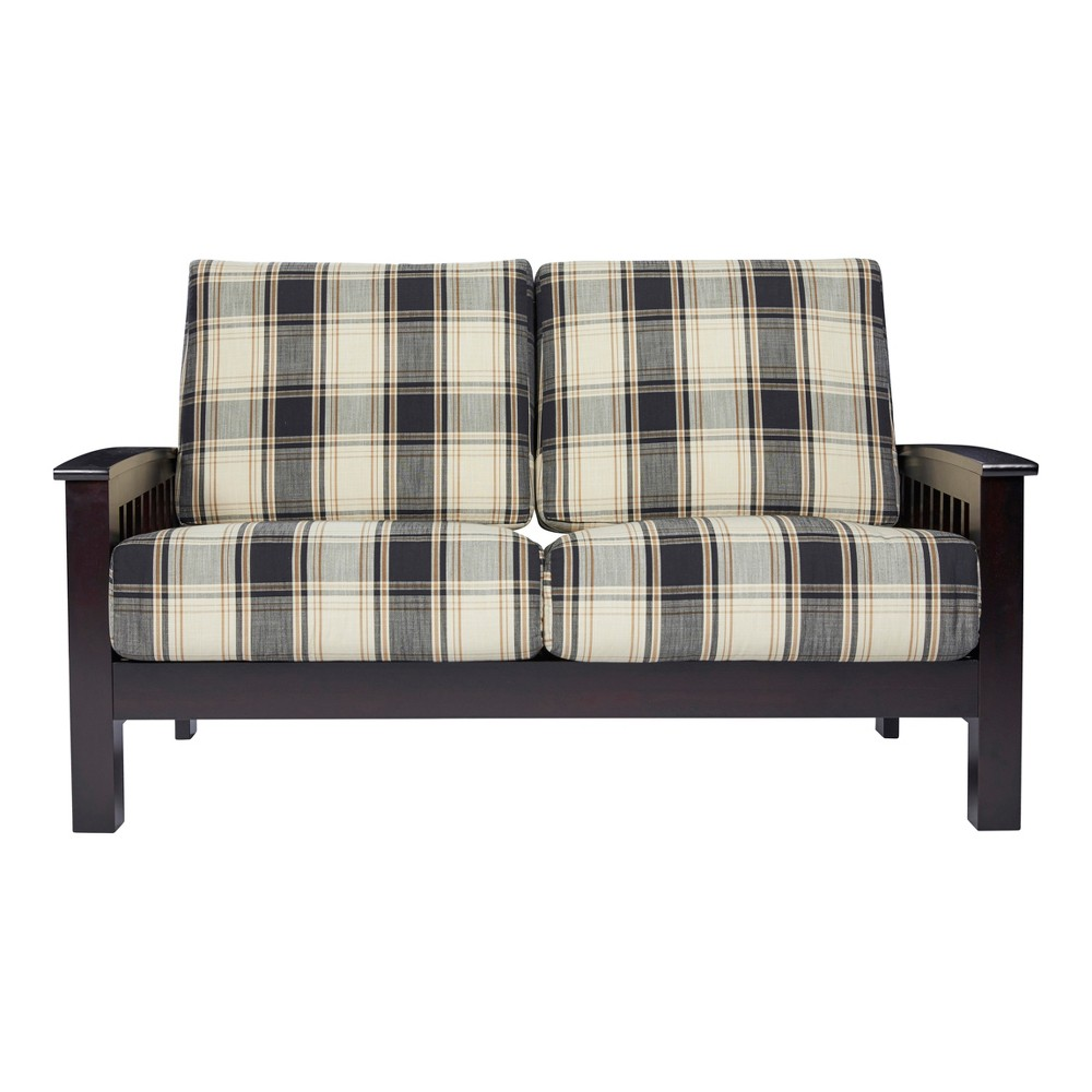 Maison Hill Mission Style Loveseat - Brown / Black - Handy Living