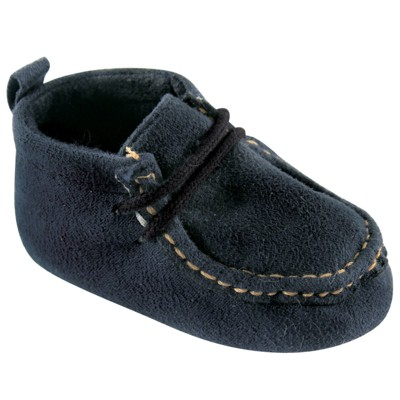 Luvable Friends Baby Boy Crib Shoes, Navy Wallabee